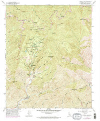 Crystal Lake California Historical topographic map, 1:24000 scale, 7.5 X 7.5 Minute, Year 1958