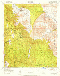 Cuyapaipe California Historical topographic map, 1:62500 scale, 15 X 15 Minute, Year 1942