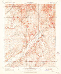 Daulton California Historical topographic map, 1:24000 scale, 7.5 X 7.5 Minute, Year 1942