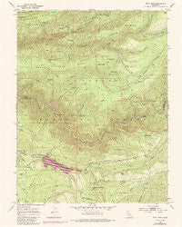 Devil Peak California Historical topographic map, 1:24000 scale, 7.5 X 7.5 Minute, Year 1950