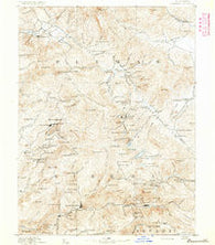 Downieville California Historical topographic map, 1:125000 scale, 30 X 30 Minute, Year 1891