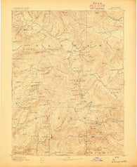 Downieville California Historical topographic map, 1:125000 scale, 30 X 30 Minute, Year 1893