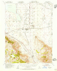Doyle California Historical topographic map, 1:62500 scale, 15 X 15 Minute, Year 1954