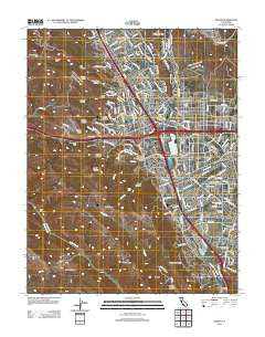 Dublin California Historical topographic map, 1:24000 scale, 7.5 X 7.5 Minute, Year 2012