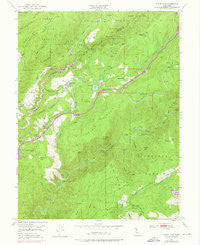 Dutch Flat California Historical topographic map, 1:24000 scale, 7.5 X 7.5 Minute, Year 1950