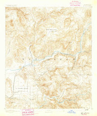 El Cajon California Historical topographic map, 1:62500 scale, 15 X 15 Minute, Year 1893