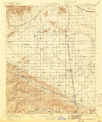 Elizabeth Lake California Historical topographic map, 1:125000 scale, 30 X 30 Minute, Year 1917