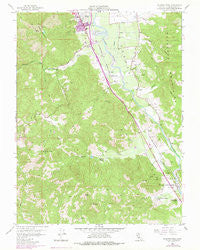 Elledge Peak California Historical topographic map, 1:24000 scale, 7.5 X 7.5 Minute, Year 1958