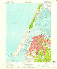 Eureka California Historical topographic map, 1:24000 scale, 7.5 X 7.5 Minute, Year 1958