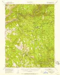 Georgetown California Historical topographic map, 1:62500 scale, 15 X 15 Minute, Year 1949