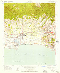 Goleta California Historical topographic map, 1:24000 scale, 7.5 X 7.5 Minute, Year 1950