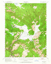 Greenville California Historical topographic map, 1:62500 scale, 15 X 15 Minute, Year 1950