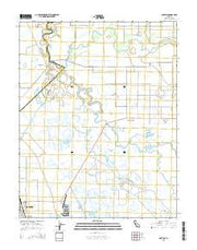Gustine California Current topographic map, 1:24000 scale, 7.5 X 7.5 Minute, Year 2015 from California Maps Store