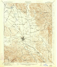 Hollister California Historical topographic map, 1:62500 scale, 15 X 15 Minute, Year 1921