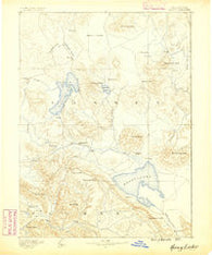 Honey Lake California Historical topographic map, 1:250000 scale, 1 X 1 Degree, Year 1886