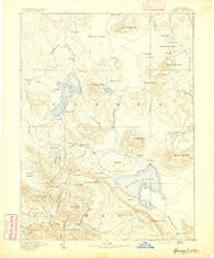 Honey Lake California Historical topographic map, 1:250000 scale, 1 X 1 Degree, Year 1891