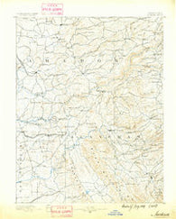 Jackson California Historical topographic map, 1:125000 scale, 30 X 30 Minute, Year 1889