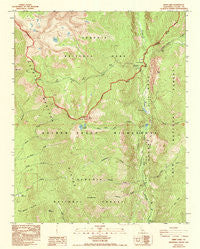 Kern Lake California Historical topographic map, 1:24000 scale, 7.5 X 7.5 Minute, Year 1988