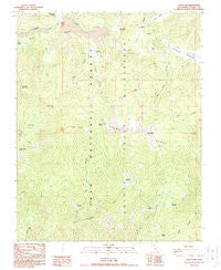 Kern Peak California Historical topographic map, 1:24000 scale, 7.5 X 7.5 Minute, Year 1988