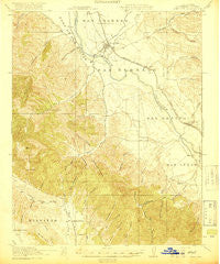 King City California Historical topographic map, 1:62500 scale, 15 X 15 Minute, Year 1919