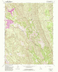 Knoxville California Historical topographic map, 1:24000 scale, 7.5 X 7.5 Minute, Year 1958