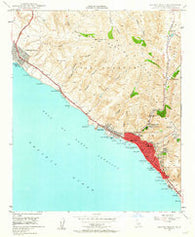 Laguna Beach California Historical topographic map, 1:24000 scale, 7.5 X 7.5 Minute, Year 1948