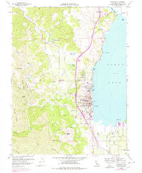 Lakeport California Historical topographic map, 1:24000 scale, 7.5 X 7.5 Minute, Year 1958