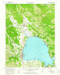 Lakeport California Historical topographic map, 1:62500 scale, 15 X 15 Minute, Year 1958