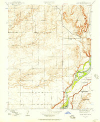 Lanes Bridge California Historical topographic map, 1:24000 scale, 7.5 X 7.5 Minute, Year 1946