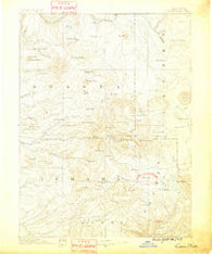 Lassen Peak California Historical topographic map, 1:250000 scale, 1 X 1 Degree, Year 1886