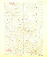 Lassen Peak California Historical topographic map, 1:250000 scale, 1 X 1 Degree, Year 1892