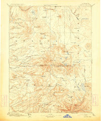 Lassen Peak California Historical topographic map, 1:250000 scale, 1 X 1 Degree, Year 1894