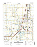 Lathrop California Current topographic map, 1:24000 scale, 7.5 X 7.5 Minute, Year 2015 from California Map Store