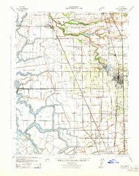 Lodi California Historical topographic map, 1:62500 scale, 15 X 15 Minute, Year 1942