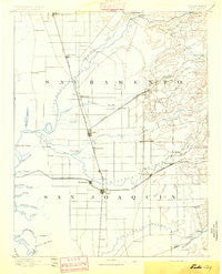 Lodi California Historical topographic map, 1:125000 scale, 30 X 30 Minute, Year 1894