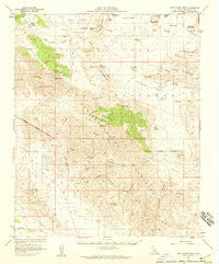 Lost Horse Mtn California Historical topographic map, 1:62500 scale, 15 X 15 Minute, Year 1958