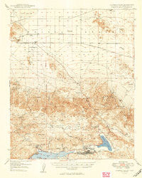Lucerne Valley California Historical topographic map, 1:62500 scale, 15 X 15 Minute, Year 1949