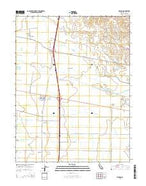 Madison California Current topographic map, 1:24000 scale, 7.5 X 7.5 Minute, Year 2015 from California Map Store
