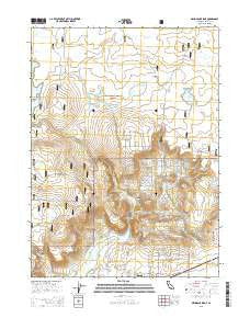 Mahogany Ridge California Current topographic map, 1:24000 scale, 7.5 X 7.5 Minute, Year 2015