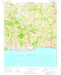 Malibu Beach California Historical topographic map, 1:24000 scale, 7.5 X 7.5 Minute, Year 1950