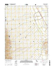 Manzanar California Current topographic map, 1:24000 scale, 7.5 X 7.5 Minute, Year 2015 from California Maps Store