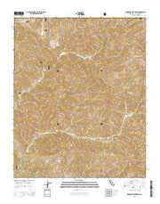 Manzanita Mountain California Current topographic map, 1:24000 scale, 7.5 X 7.5 Minute, Year 2015 from California Maps Store