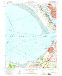 Mare Island California Historical topographic map, 1:24000 scale, 7.5 X 7.5 Minute, Year 1959
