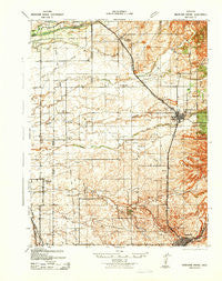 Markham Ravine California Historical topographic map, 1:62500 scale, 15 X 15 Minute, Year 1942