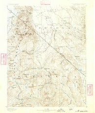 Markleeville California Historical topographic map, 1:125000 scale, 30 X 30 Minute, Year 1891