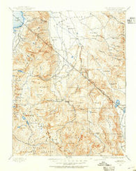 Markleeville California Historical topographic map, 1:125000 scale, 30 X 30 Minute, Year 1889