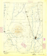 Marysville California Historical topographic map, 1:125000 scale, 30 X 30 Minute, Year 1888