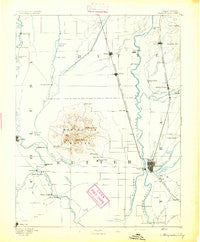 Marysville California Historical topographic map, 1:125000 scale, 30 X 30 Minute, Year 1894