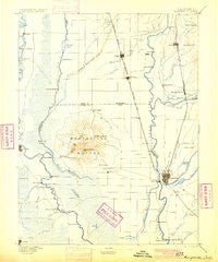 Marysville California Historical topographic map, 1:125000 scale, 30 X 30 Minute, Year 1895