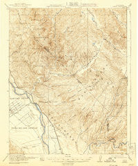 Metz California Historical topographic map, 1:62500 scale, 15 X 15 Minute, Year 1921